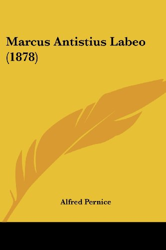 Marcus Antistius Labeo (1878)