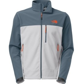 The North Face Apex Bionic Soft Shell Jacket - Men's-High Rise Grey/Conquer Bl-M by The North Face