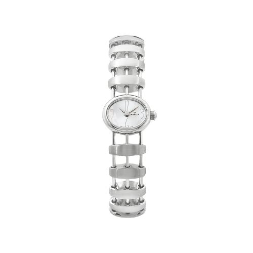 Milus Women's OPH012 Ophoia Small Silver Dial Crossbar Bracelet Watch
