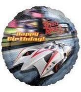 "Speed Racer Happy Birthday Mylar 18"" Balloon - 1"