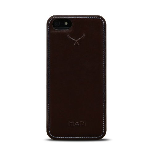 """MAPi (P115C0847) Pella """"Shell"""" Snap-on w/Leather Accents for iPhone 5/5s, Brown"""