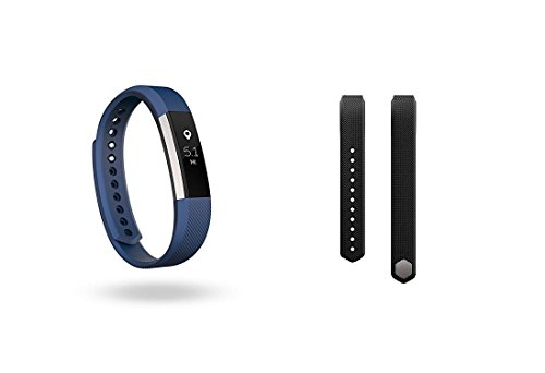 Fitbit Alta (Blue, Large) + Accessory Band (Black, Large)