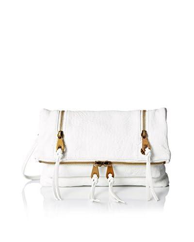Joelle Hawkens Women's Allyson Soft Croco Convertible Clutch/Cross-Body Bag, Ice