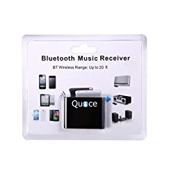Quace Bluetooth A2DP Music Audio Receiver Adapter for 30-Pin iPod iPhone Dock Speaker