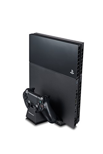 Supremery Vertical Stand with Cooling Fans for PlayStation 4 Console - Dual Charging Station for DualShock 4 Controller PS4 Charger Dockingstation [hidden Fans] (Console Station compare prices)