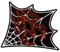 Vulture Kulture - Spiderweb - Large Embroidered Patch