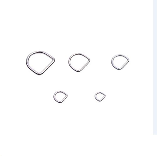 FinalZ NonWelded Metal D-Rings/Loop Ring for Strap Keeper (15mm, 10 pcs) (Loop D Loop compare prices)