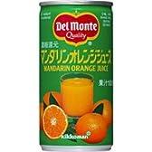 デルモンテ マンダリンオレンジジュース (濃縮還元100%) 190g×30缶
