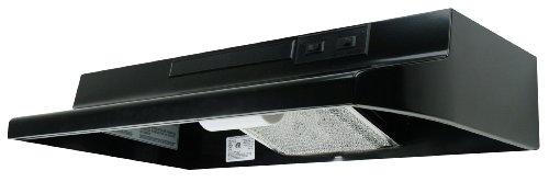 Air King AR1366 7-Inch Round Ducting Under Cabinet Range Hood with 2-Speed Blower and 180-CFM, 7.5-Sones, 36-Inch Wide, Black Finish (Round Range Hood compare prices)