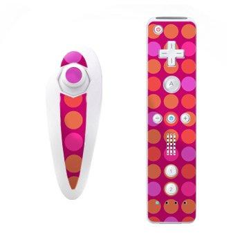 Nintendo Wii Skins Nunchuk - Pink Dots
