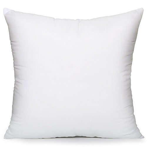 Acanva Hypo-Allergenic Pillow Insert Form Cushion Sham, Square, 20