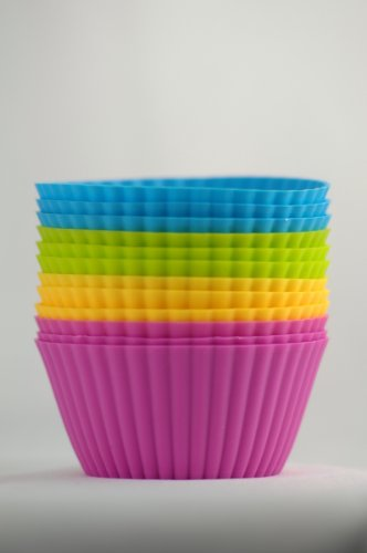 4-Color Ultima Ultimate Silicone Baking Cups 12-pc Set