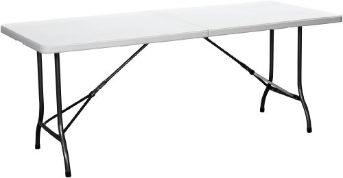 Duralight Hdpe Folding Multipurpose Table, 6-Feet, White Granite front-97495