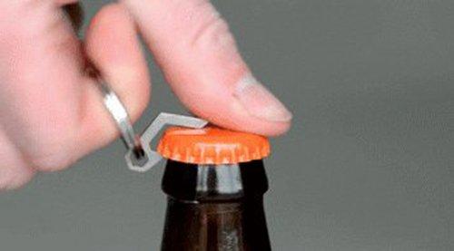 Apribottiglie Portachiavi , Stainless Steel Ultar Mini bottiglia Opener Key Tag con l'Slotted lo strumento di Screwdriver CED