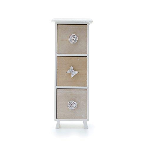 Mini cassettiera in legno a 3 cassetti