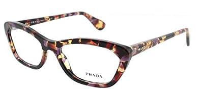 Amazon.com: Prada PR03QV Eyeglasses-PDN/1O1 Spotted Havana ...