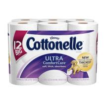 Cottonelle Ultra Comfort Care Toilet Paper has unbeatable thickness that makes it soft and strong.