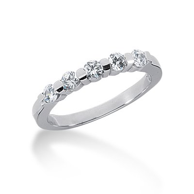 14K Gold Diamond Anniversary Rings 14K-AR27121913 0.35 Ctw.