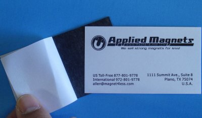"""Applied Magnets"" Business Card Magnets with Adhesive backing, Set of 50 pieces"