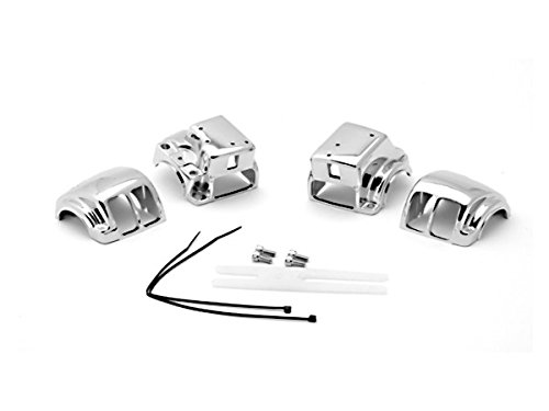OEM Motorcycle Parts Handlebar Switch Chrome Housings Cover Fit For 2006 2007 2008 2009 2010 2011 2012 Harley Davidson Street Glide FLHX (Oem Motorcycle Parts compare prices)