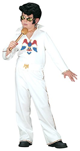 Boys Elvis Jumpsuit Kids Child Fancy Dress Party Halloween Costume