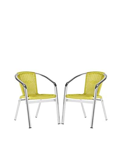 Safavieh Wrangell Indoor-Outdoor Stacking Armchair, Green