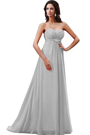 Winey Bridal Bling Crystsals Cheap Women Evening Prom Dresses Bridesmaid (20W, Silver)