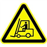 Aufkleber Warnzeichen Warnung vor Flurförderzeugen 10cm sl Folie