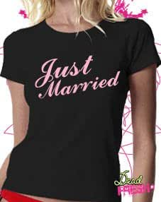 Just Married (Bride) T-shirt,S