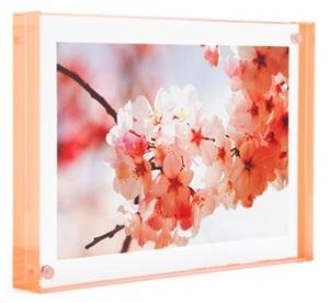 New 2013 Color The original acrylic MAGNET FRAME with Peach Edge by Canetti - 3.5x5