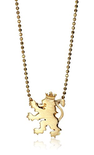 Alex Woo Little Royal Lion in 14kt Yellow Gold Pendant Necklace, 16