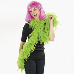 NEON GREEN FEATHER BOA - 1