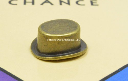 Genuine Vintage Monopoly Top Hat Token/Mover - 1