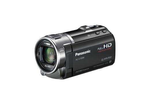 Panasonic HCV700MK 3D Full HD 28mm Wide Angle SD Camcorder with 16GB Internal Memory (Black)