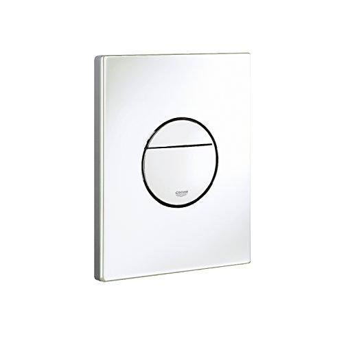 grohe 38765sh0 nova cosmopolitan piastra di azionamento wc doppio scarico bianco. Black Bedroom Furniture Sets. Home Design Ideas