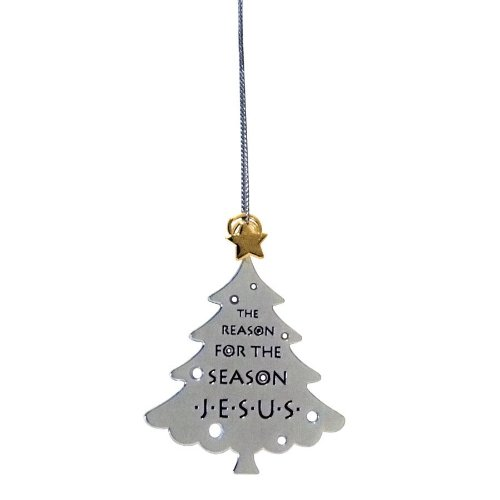 Enesco Reason to Rejoice by Gregg Gift Silverplate Tree Ornament, 3-Inch (Gregg Gift Company compare prices)