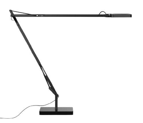 Flos Schreibtischleuchte Kelvin T LED - schwarz glänzend (schwarz) Antonio Citterio und Toan Nguyen 2009, Aluminiumdruckguß, Stahl, Polycarbonat