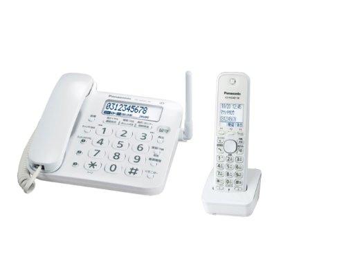 パナソニック デジタルコードレス電話機  子機1台付き 1.9GHz DECT準拠方式 VE-GD21DL-W