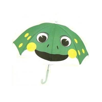 Fun Green Frog Umbrella By Brolly Pals Children's Animal Umbrella