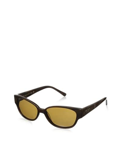 Kate Spade Women's Halle Polarized Sunglasses  [Brown Horn/Brown]
