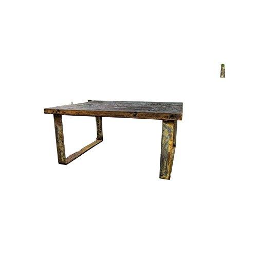 Mesa centro madera y forja