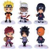 "Naruto Figures 6pcs Set 2.5"" PVC Uzumaki Naruto Uchiha Madara Toys Lot"