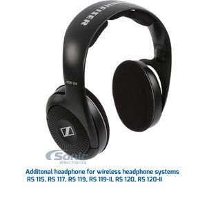 Sennheiser HDR120 Supplemental HiFi Wireless Headphone for RS-120 System