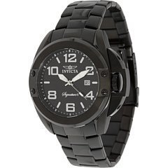 INVICTA SIGNATURE 7332 GENTS STAINLESS STEEL CASE DATE MINERAL WATCH
