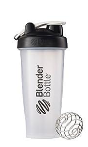 BlenderBottle Classic Loop Top Shaker Bottle, Clear Black, 28 Ounce