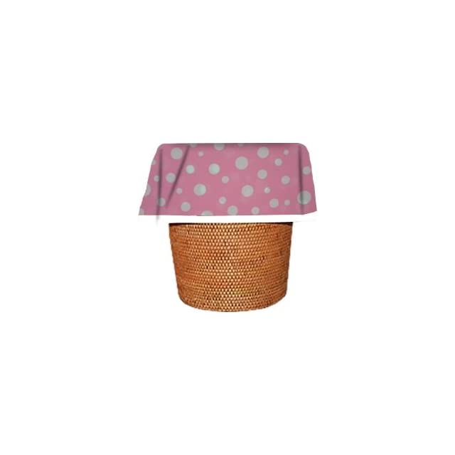 Designerliners Pink Polka Dot Pattern Eco Green Biodegradable Plastic Waste Basket Trash Bags   Great for Baby, Nursery, Childs Room, Bathroom, Kitchen.   Dress the Mess   12 Pack   5 6 Gallons   17.75 X 19   USA Made