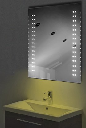 Ambient Ultra-Slim Led Bathroom Mirror With Demister Pad & Sensor K13Y