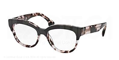 Amazon.com: Prada PR21QV Eyeglasses-ROL/1O1 Top Brown/Pink ...