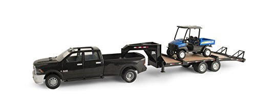 ertl-big-farm-dodge-ram-pickup-fifth-wheel-trailer-vehicle-and-rustler