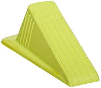 """Impact 7265 Rubber Super Door Stop, 6-1/4"""" Length x 3-1/2"""" Width x 2"""" Height, Yellow/Green (Case of 12)"""